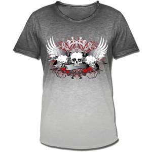 Bild: T-Shirt selbst gestalten mit Motiv Drei Totenköpfe