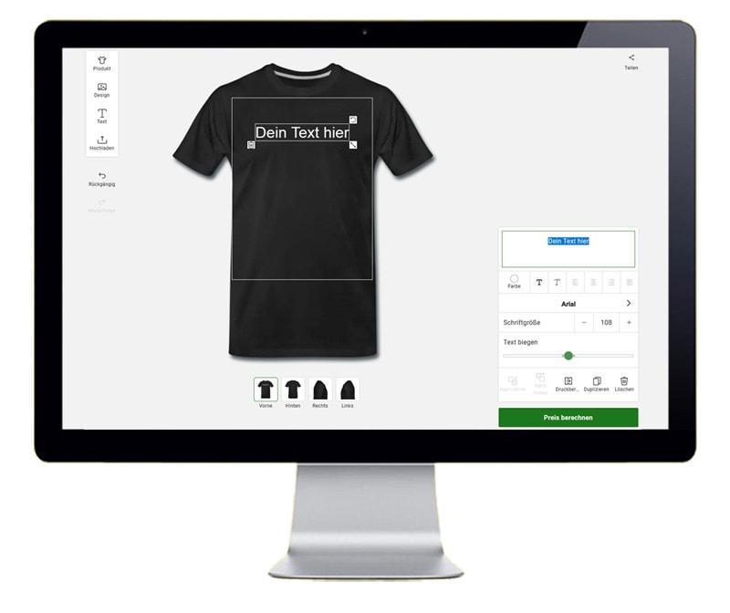 Bild zeigt T-Shirt selbst gestalten