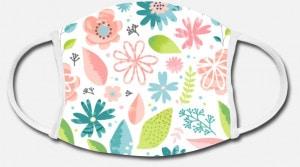 Bild: Stoffmaske selbst gestalten mit Design Blumenmuster