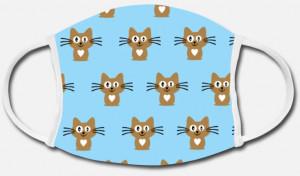 Bild: Stoffmaske selbst gestalten mit Design Katzen